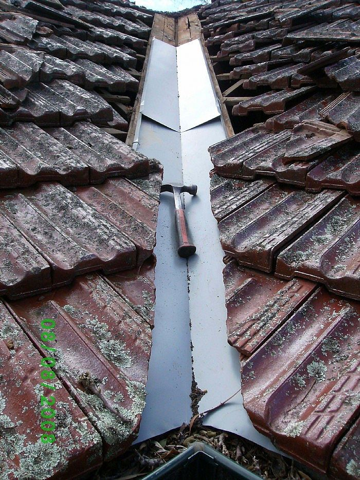 Replacing rusted-out roof valley