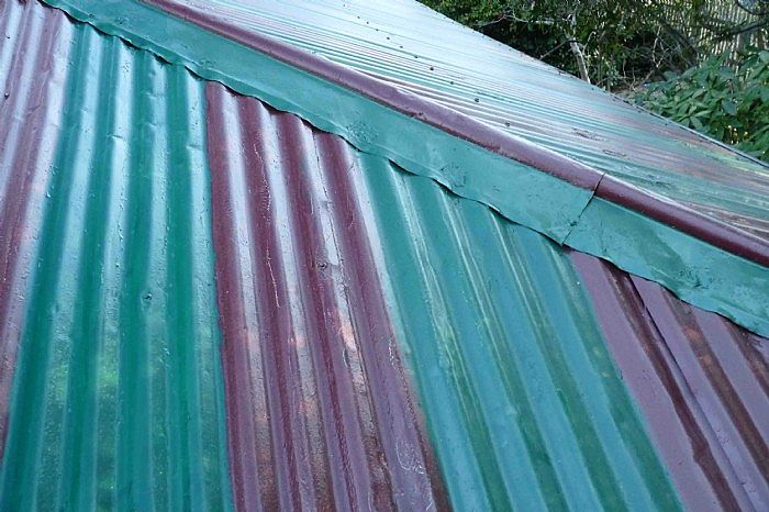 roof painted with stripes